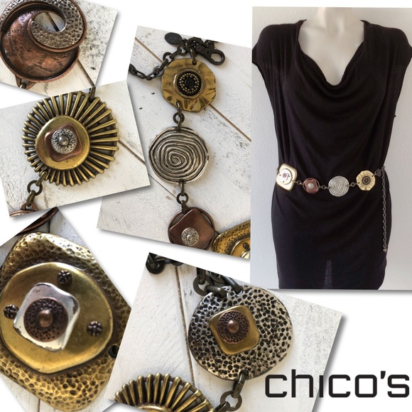 Chico's Accessories - Chico's Artisan chain Concho belt SZ S / M